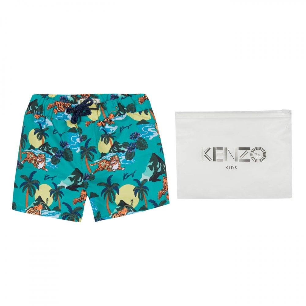 caf76a51b21c0 Kenzo Kids Juniors JB Hawaii Swim Shorts (Green) - Kids from Loofes UK