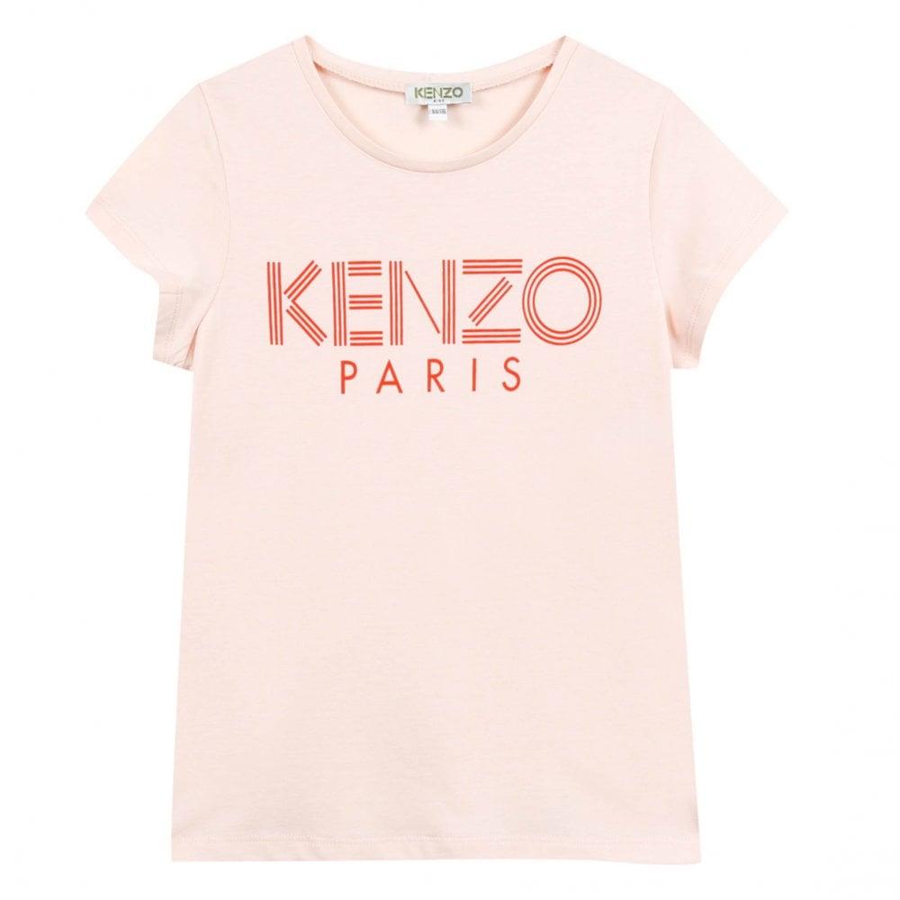 e7981076 Kenzo Kids Juniors Logo Chest Print T-Shirt (Pink) - Kids from Loofes UK