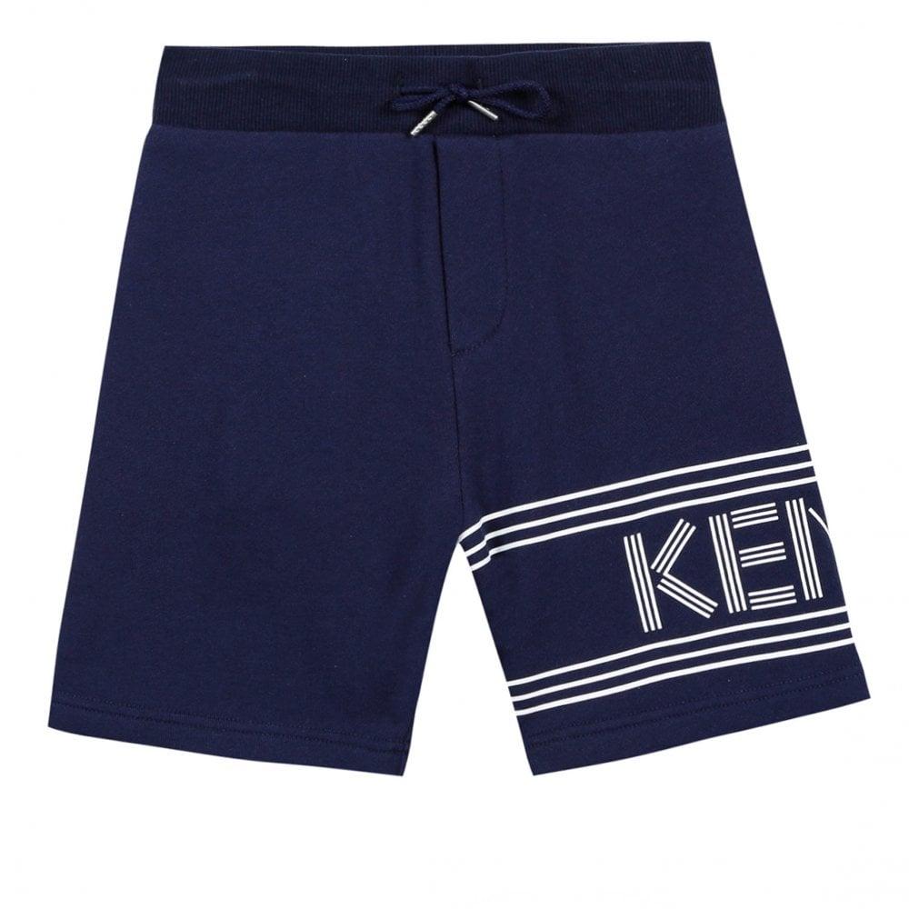 0b89bfe2e5acd Kenzo Kids Juniors Sport JB 11 Logo Bermuda Shorts (Navy) - Kids ...
