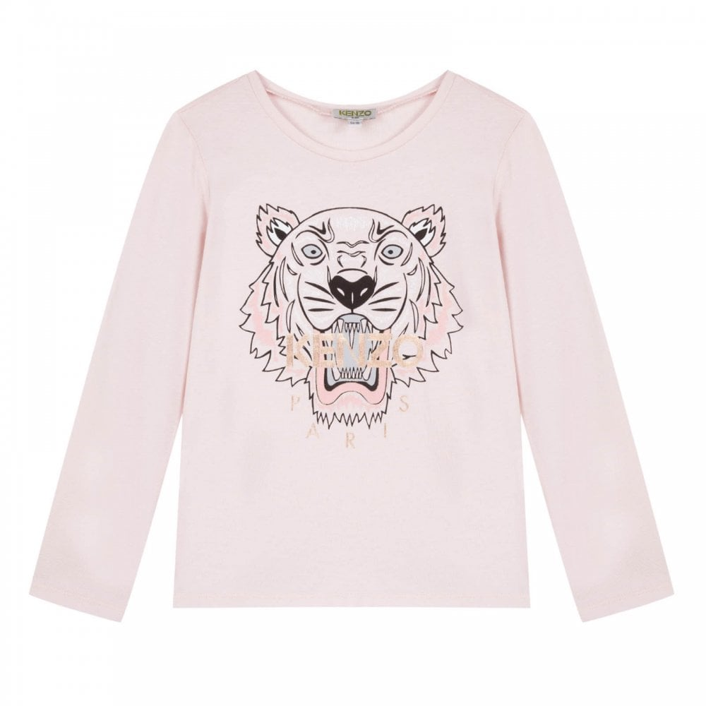 510148218855 Kenzo Kids Juniors Tiger Face Print JG 14 T-Shirt (Pink) - Kids from ...