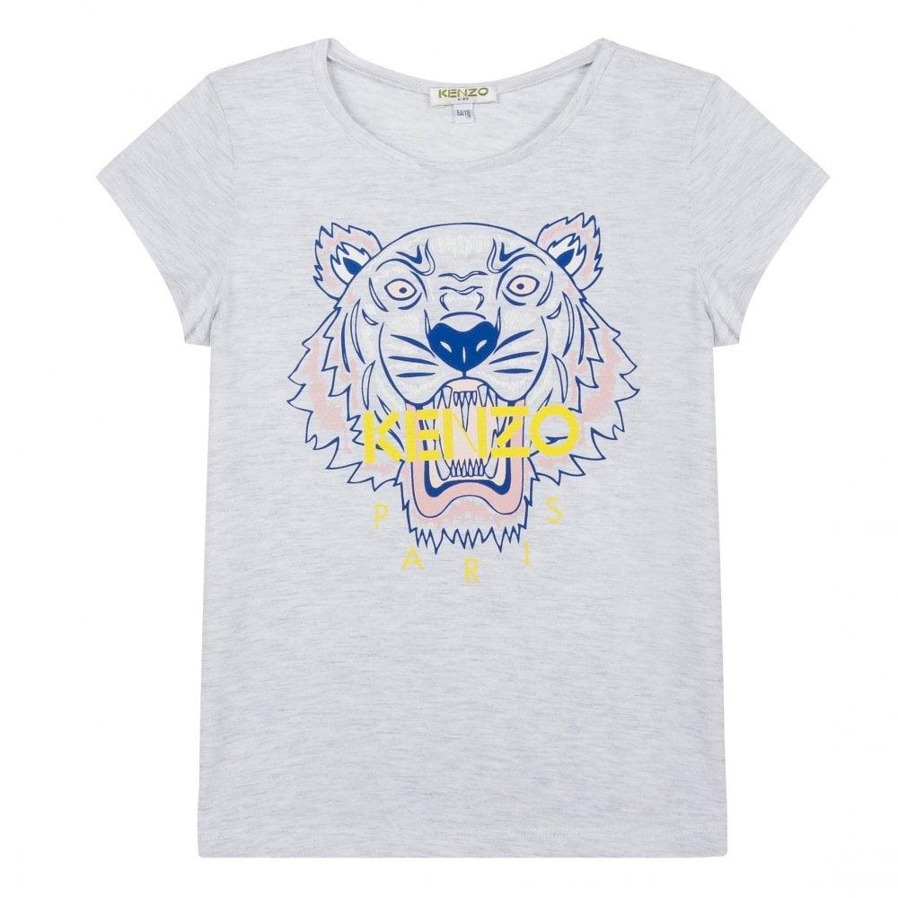 e48db687 Kenzo Kids Juniors Tiger Print T-Shirt (Grey) - Kids from Loofes UK