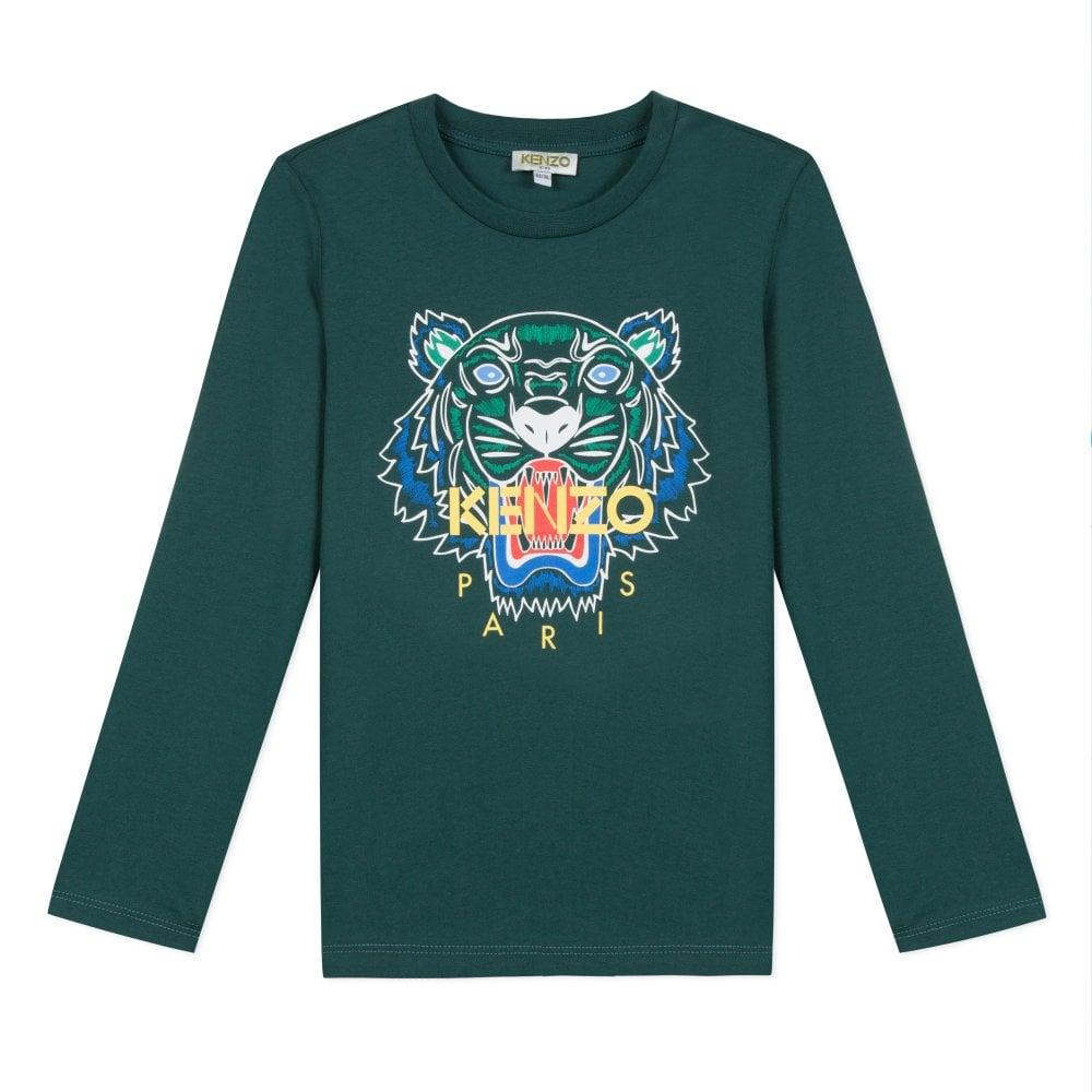 44cf48cf0f Juniors Tiger T-Shirt (Green)