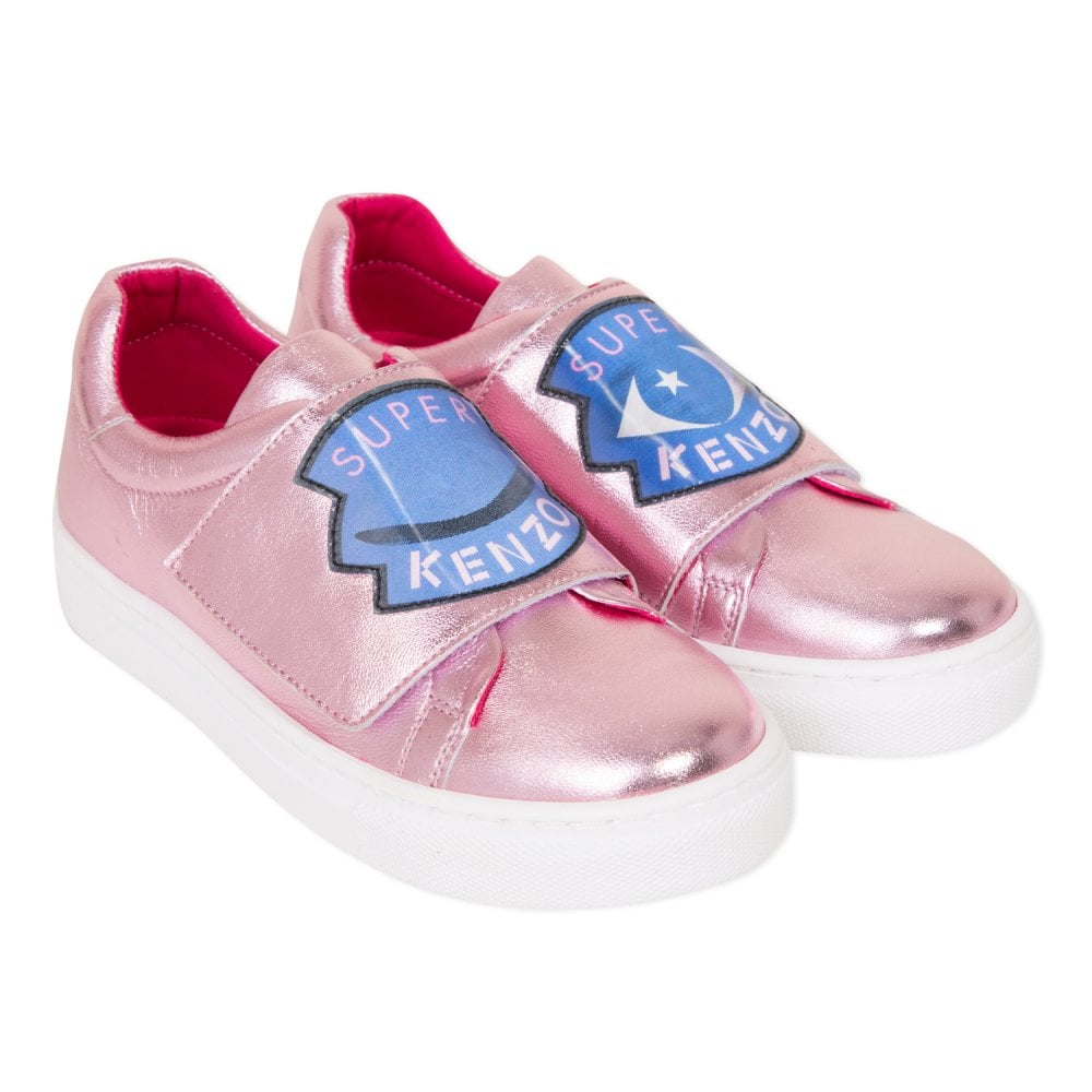 Kenzo Kids Super Kenzo Trainers (Pink