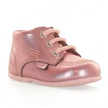 Kickers Infants HI Metallic Baby Boots (Pink)