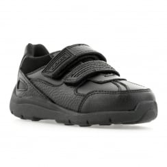 Kickers Infants Maokie Reflex Leather Shoes (Black)