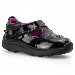 Kickers Infants Moakie Patent T-Bar Shoes (Black)