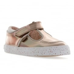 Kickers Infants Tovni Patent Shoes (Gold)