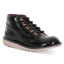 Kickers Juniors Kick HI Patent Boots (Black)