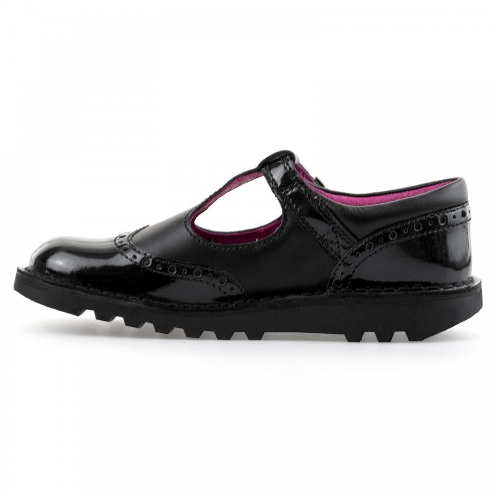 kickers kickers juniors kick t brogue shoes black