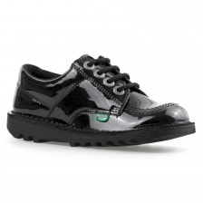 Kickers Juniors Low Core Patent Shoes (Black)