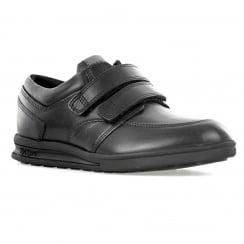 Kickers Juniors Troiko Strap Leather Shoes (Black)