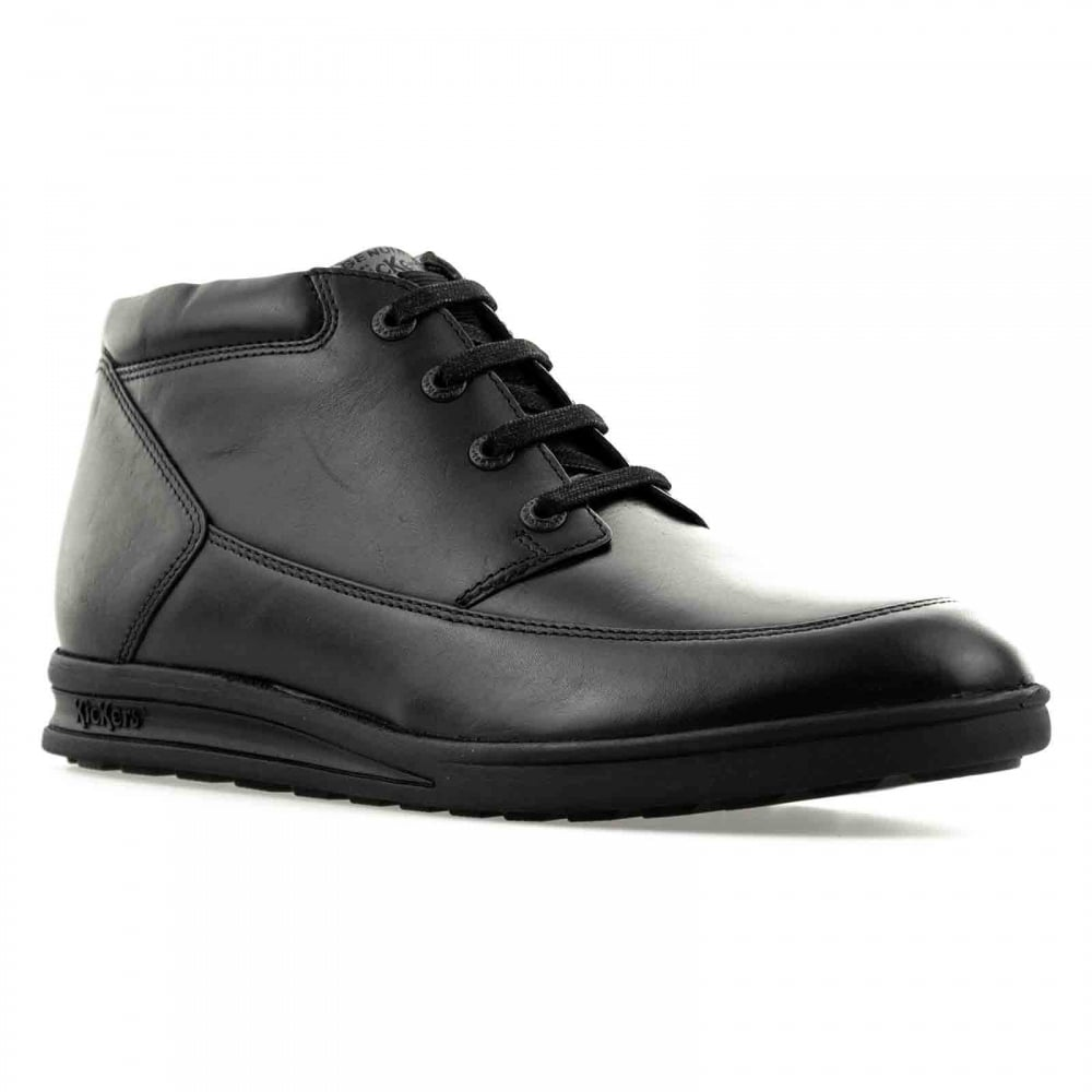 9443ff07ce4667 Kickers Mens Troiko Leather 316 Boots (Black) - Mens from Loofes UK