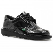 Kickers Womens Kick Low Patent Shoes (Black)