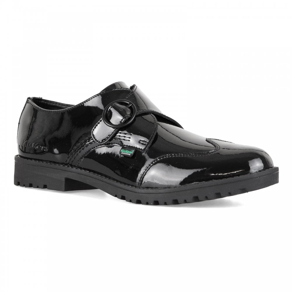 e784eccb90f457 Kickers Womens Lachly Monk Shoes (Black) - Womens from Loofes UK
