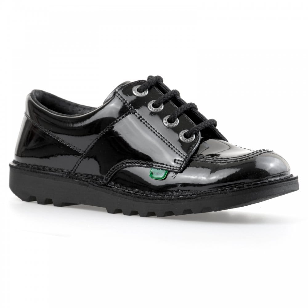d54826ed Kickers Youths Low Core Patent Shoes (Black) - Kids from Loofes UK