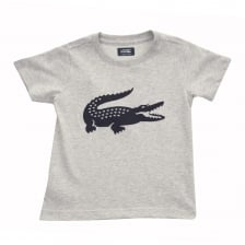 Lacoste Juniors Croc Print T-Shirt (Grey)
