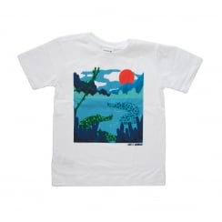 Lacoste Juniors Jungle Print T-Shirt (White)