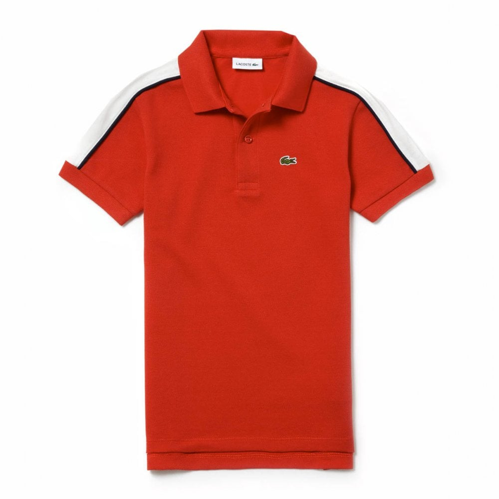 b60b8e94e Lacoste Juniors Long Back Polo Shirt (Red) - Kids from Loofes UK
