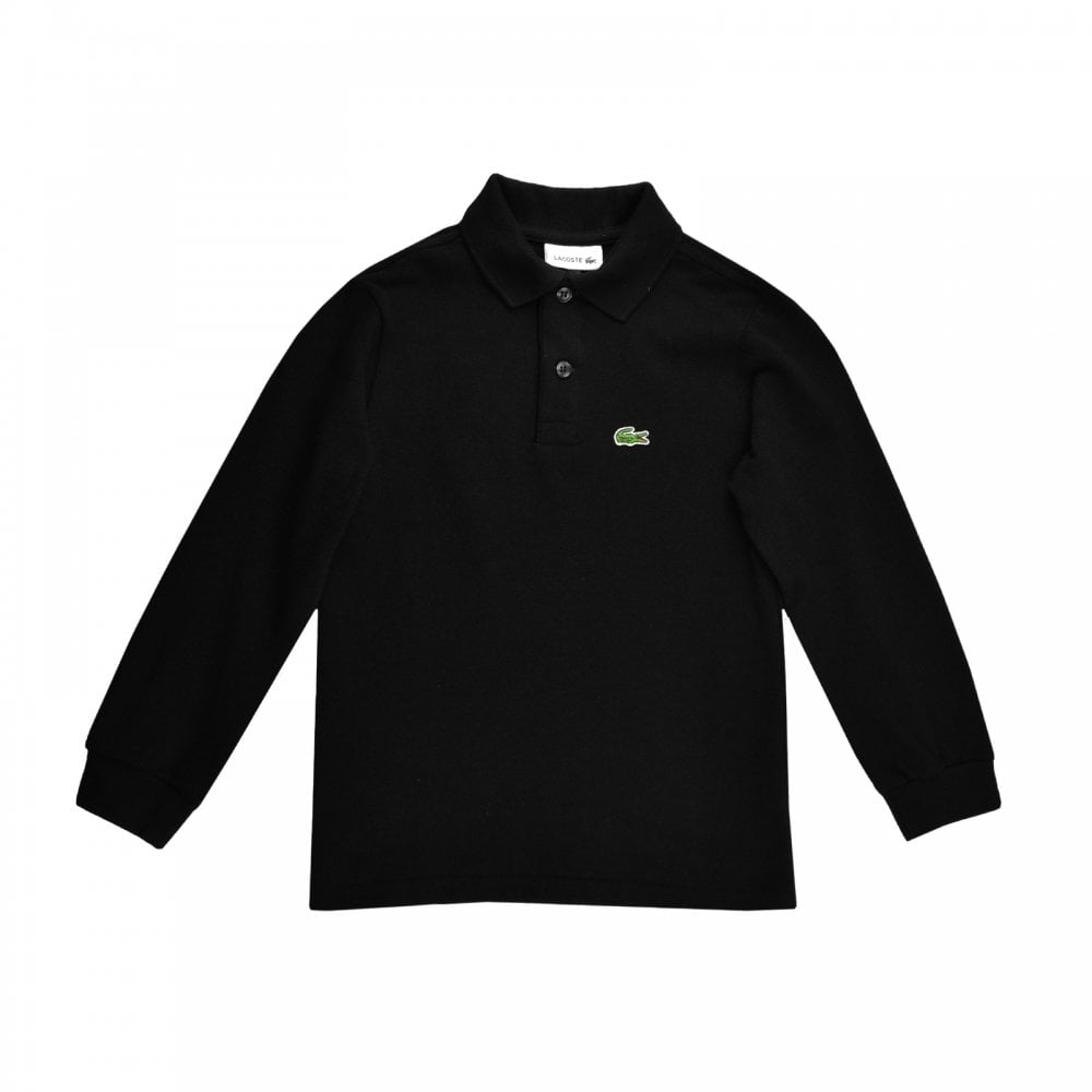 black lacoste long sleeve shirt