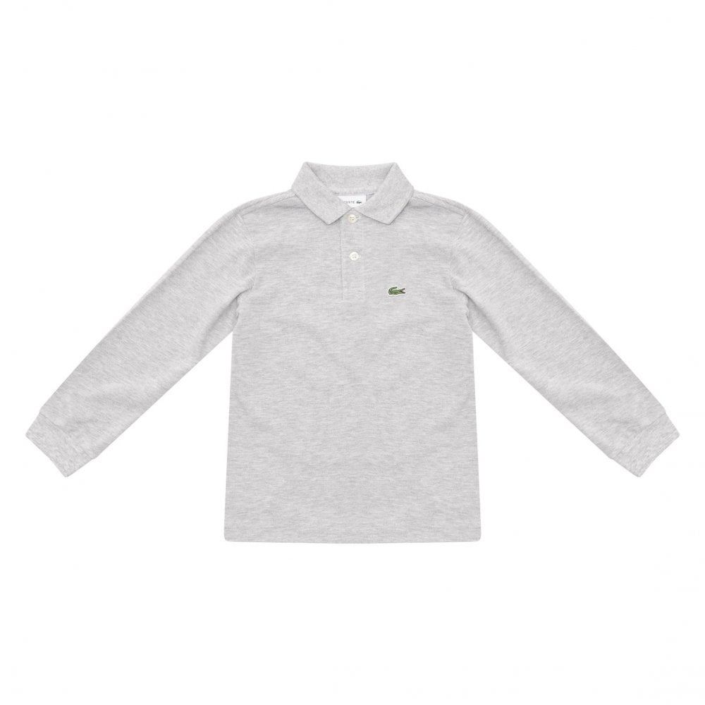 01ba4eb99 Lacoste Juniors Plain Long Sleeve Polo Shirt (Grey) - Kids from ...