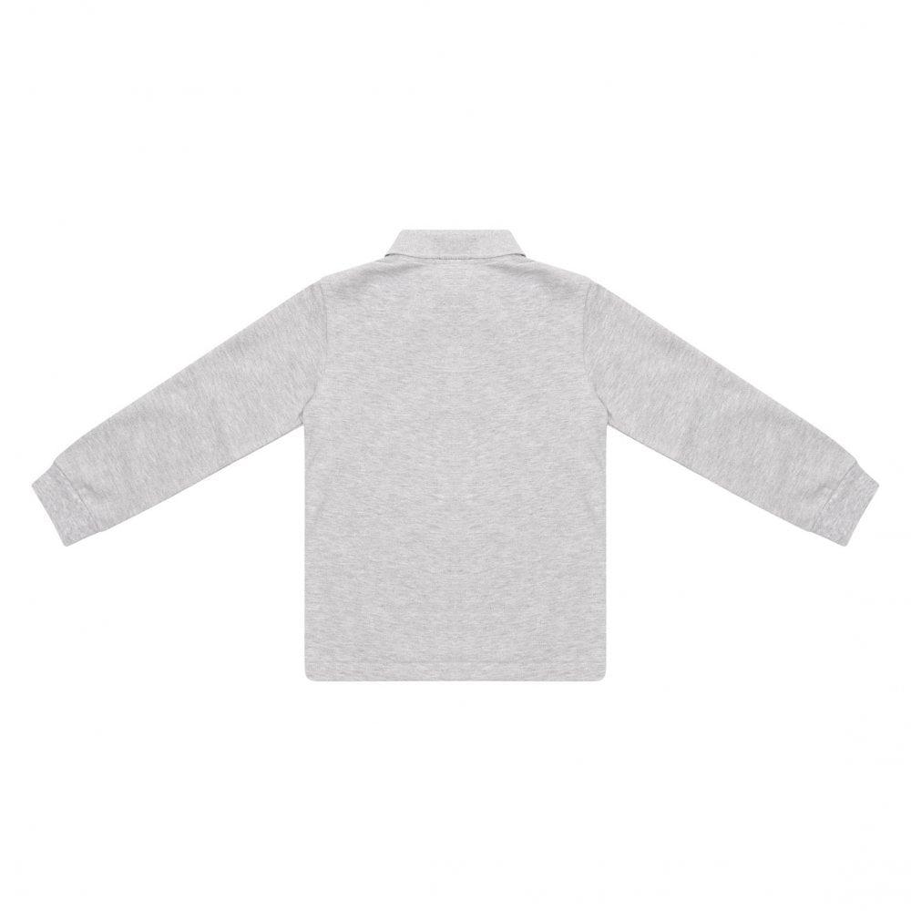 7d3f92b6 Lacoste Juniors Plain Long Sleeve Polo Shirt (Grey) - Kids from ...