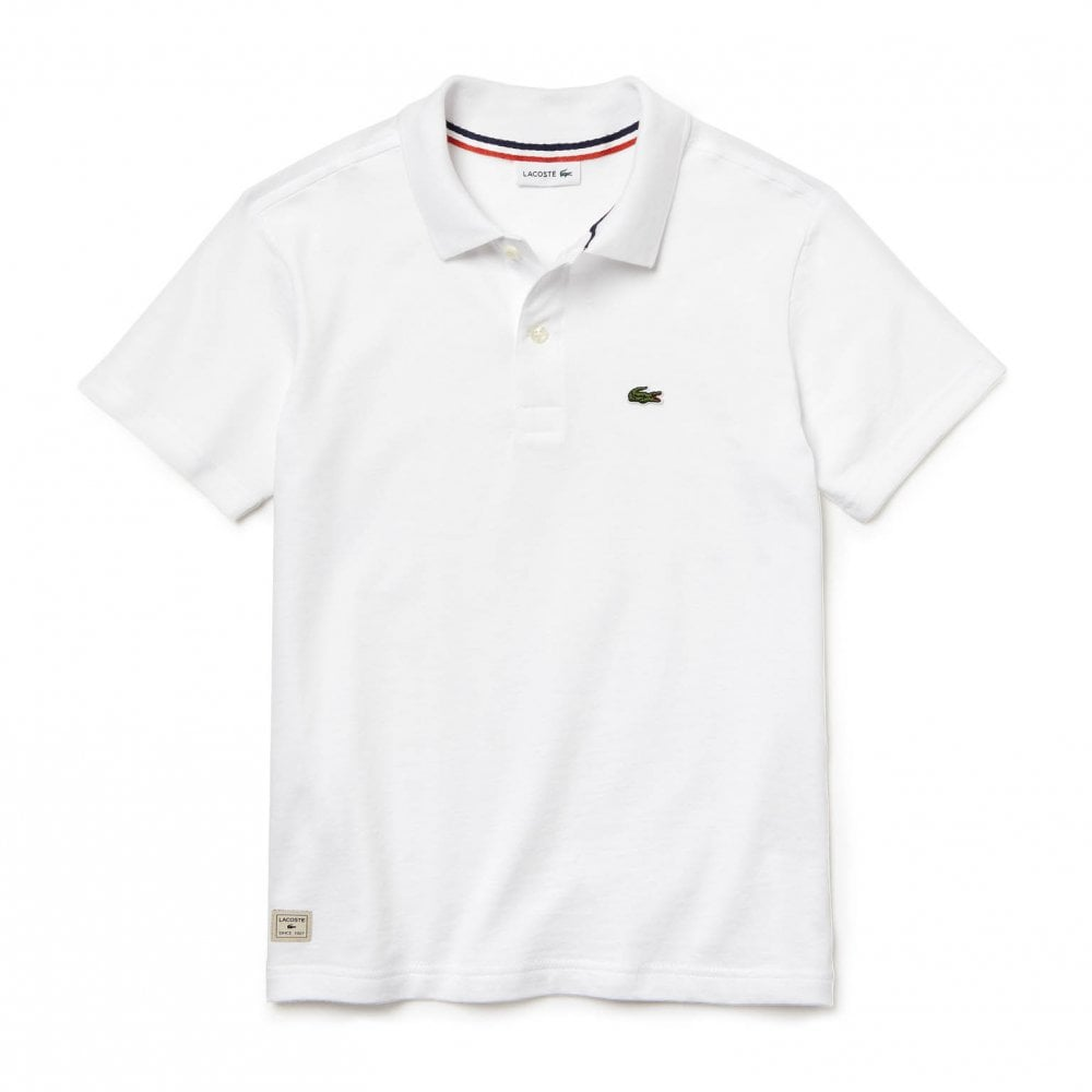 7a39b5720 Lacoste Juniors Plain Polo Shirt (White) - Kids from Loofes UK