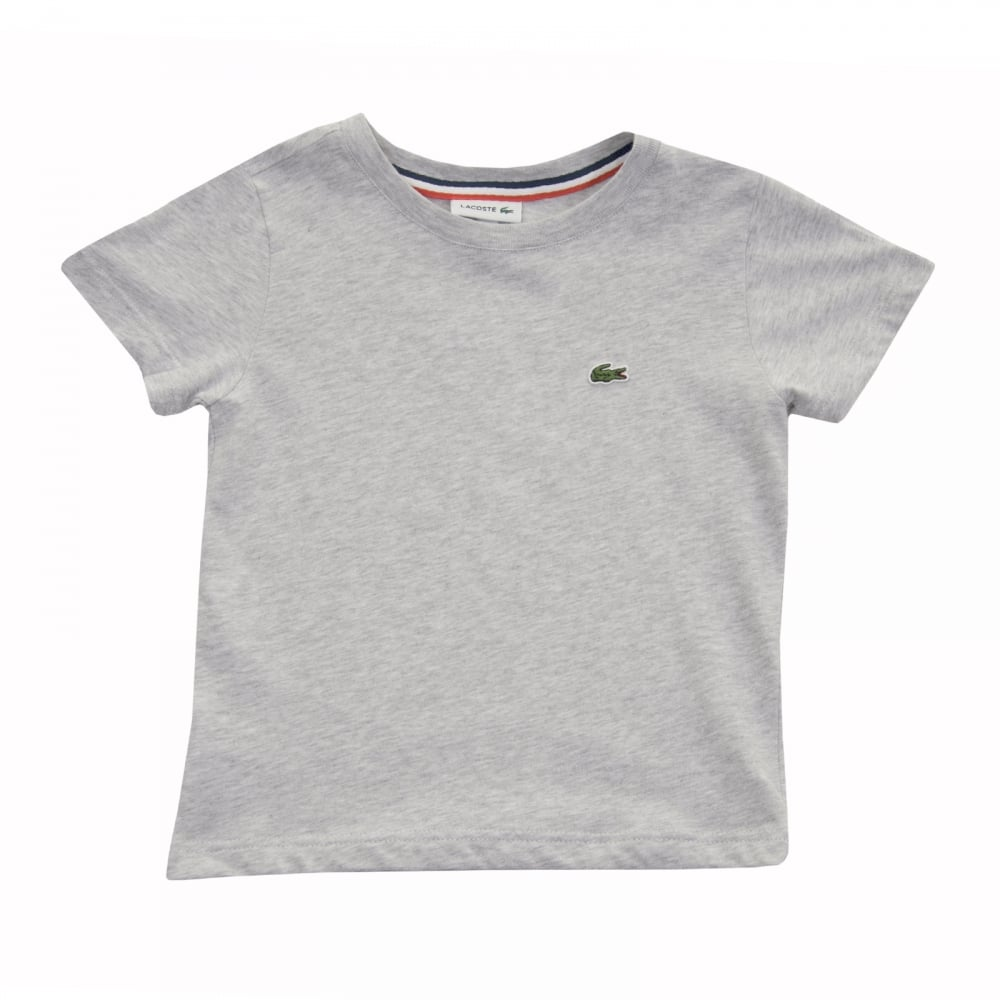 546c26f82 Lacoste Juniors Plain T-Shirt (Grey) - Kids from Loofes UK