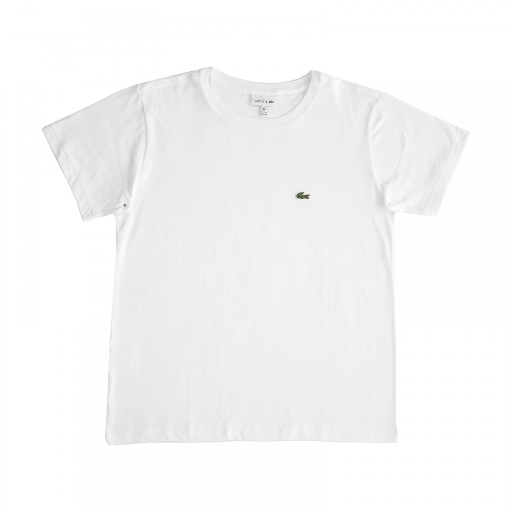 85d746f34 Lacoste Juniors Plain T-Shirt (White) - Kids from Loofes UK