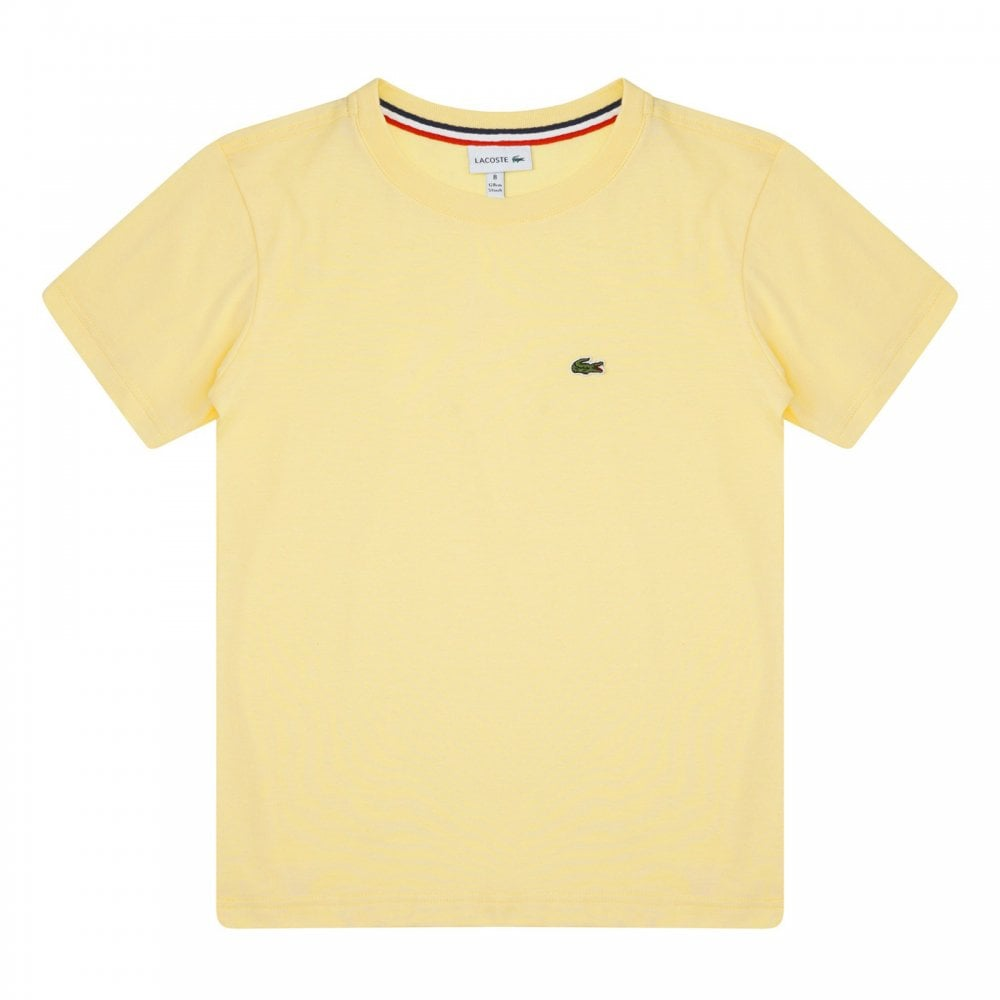f3a3a0ad0331c Lacoste Juniors Plain T-Shirt (Yellow) - Kids from Loofes UK