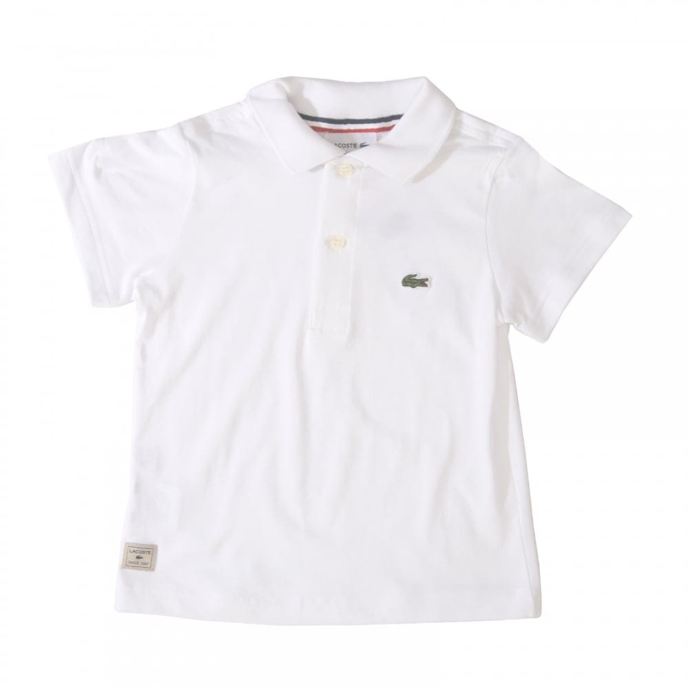 5f1c6f931 Lacoste Juniors Polo Shirt (White) - Kids from Loofes UK