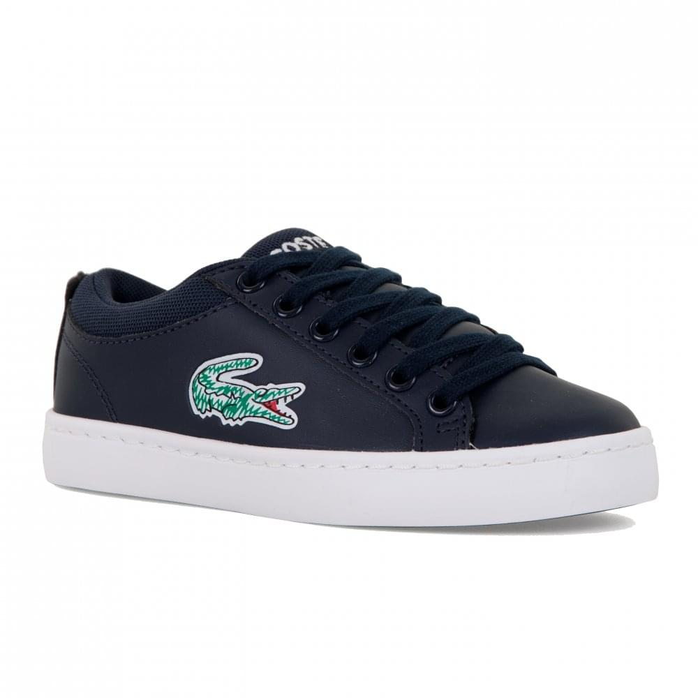 f19476f9e Lacoste Juniors Straightset Trainers (Navy) - Kids from Loofes UK