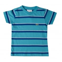 Lacoste Juniors Stripe T-Shirt (Blue)