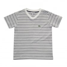 Lacoste Juniors Stripe T-Shirt (White)