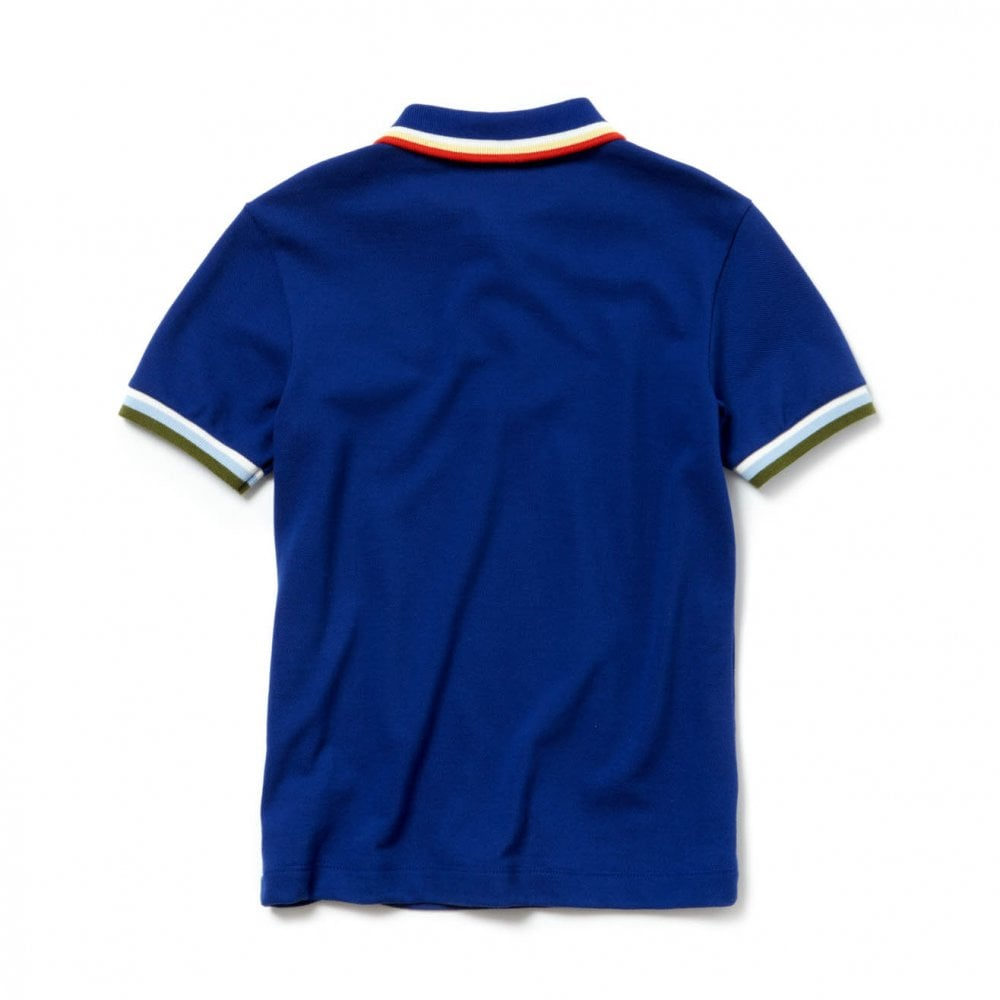 d7c6d75c9 Lacoste Juniors Striped Trim Polo Shirt (Royal) - Kids from Loofes UK