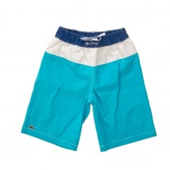 Lacoste Juniors Swim Shorts (Blue/Deep Blue/White)