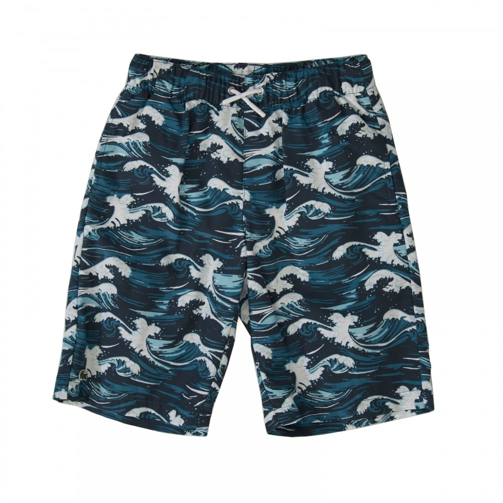 bf12a84aad5f1 Lacoste Juniors Wave Print Shorts (Navy) - Kids from Loofes UK
