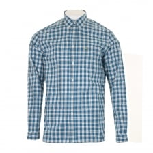 Lacoste Mens Check Long Sleeve Shirt (Blue)