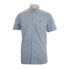 Lacoste Mens Check Shirt (Blue)