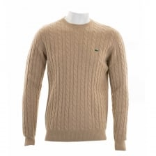 Lacoste Mens Crew Neck Sweater (Camel)