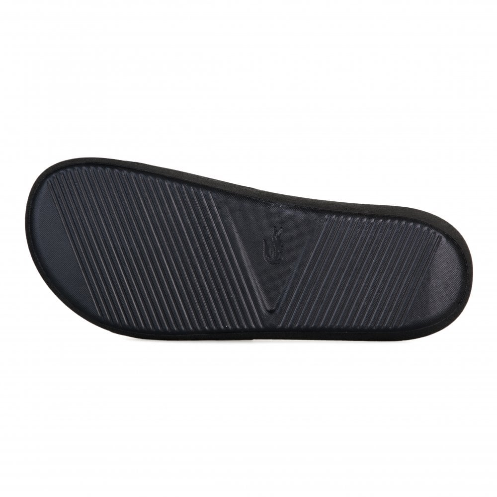 12052d906 Lacoste Mens Croco 119 Slides (Black) - Mens from Loofes UK