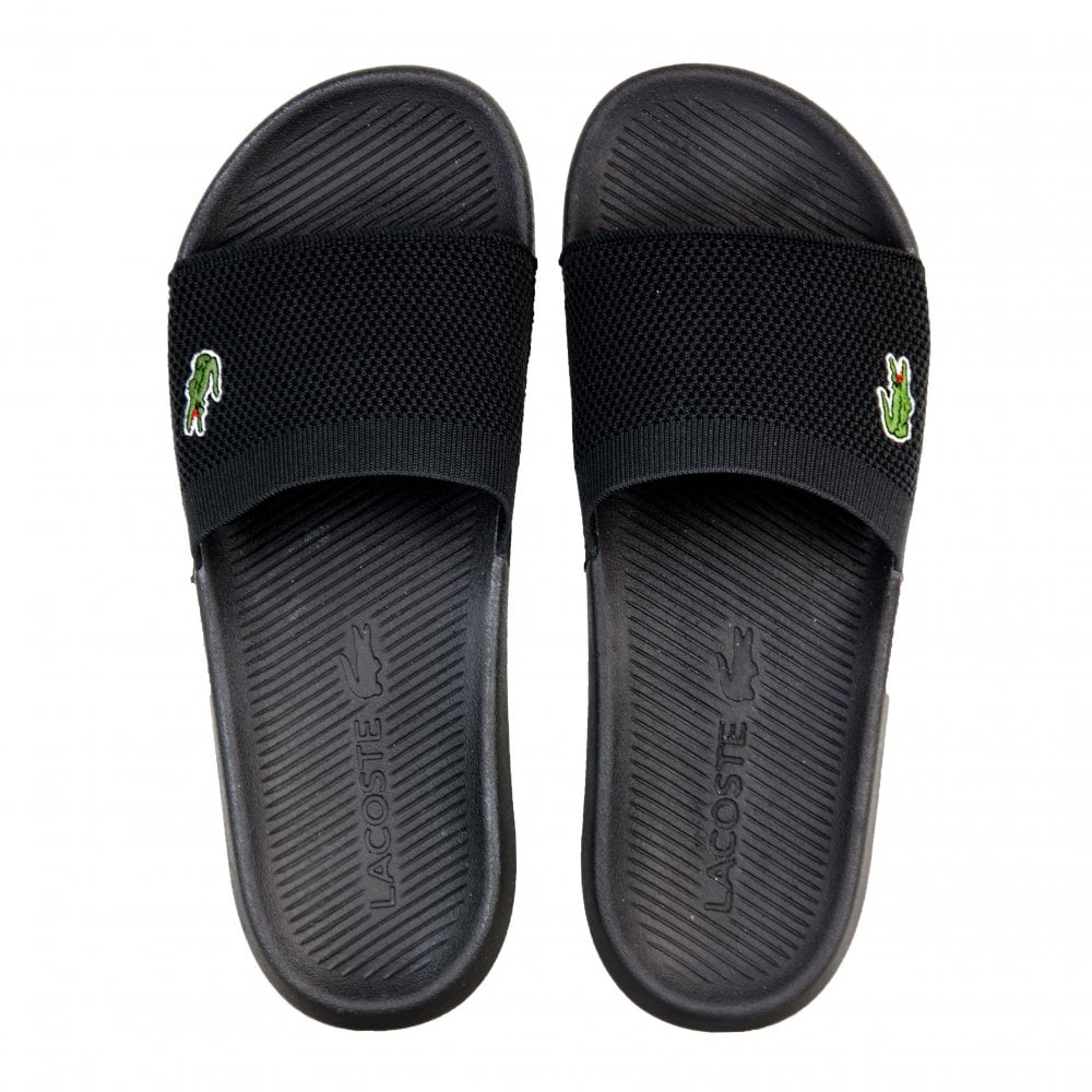 38864bc49 Lacoste Mens Croco Slides (Black) - Mens from Loofes UK