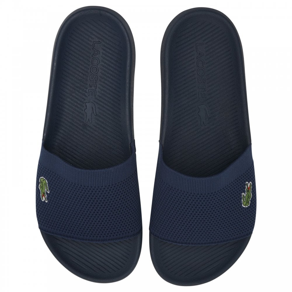 2f269f2a1 LACOSTE Lacoste Mens Croco Slides (Navy) - Mens from Loofes UK