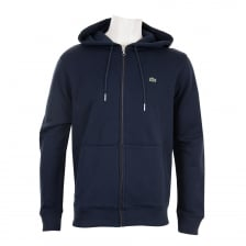 Lacoste Mens Full Zip Hoody (Navy)