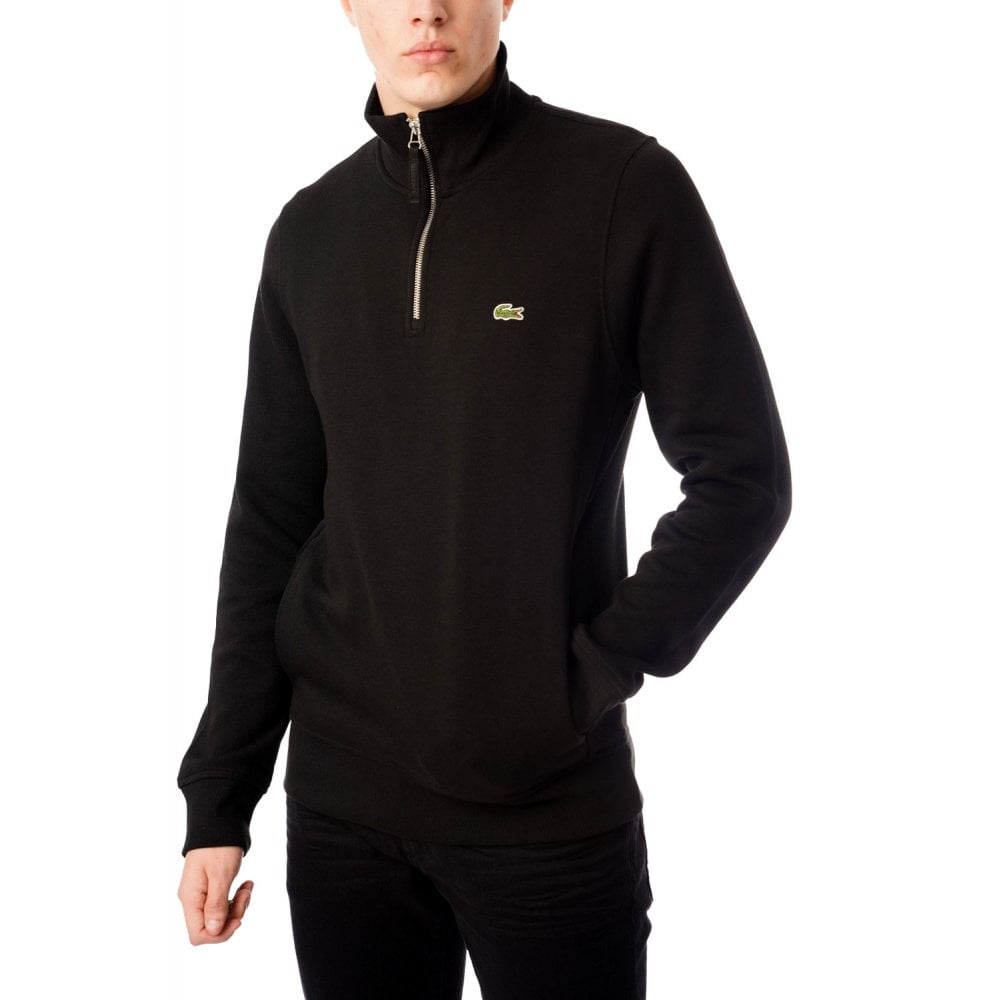 lacoste mens zip sweatshirt