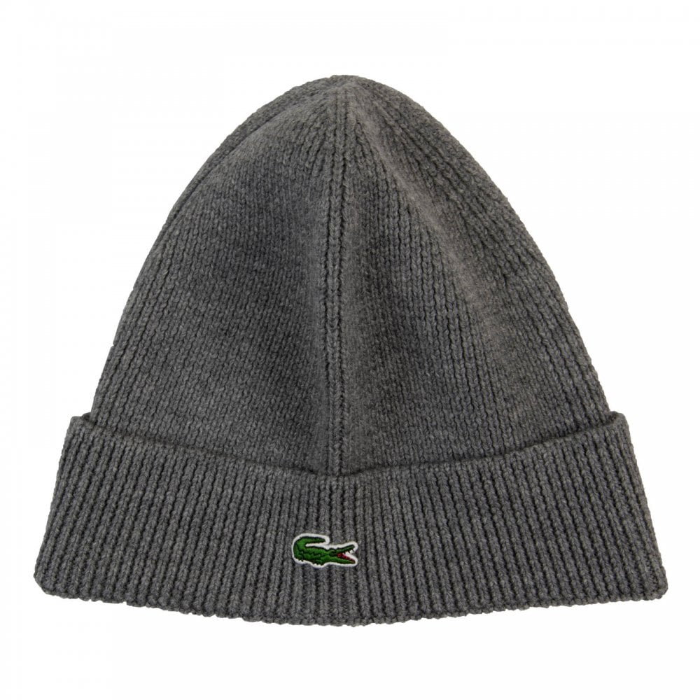 Lacoste Mens Knitted Beanie Hat (Grey) - Mens from Loofes UK 6e2f1c86f2d