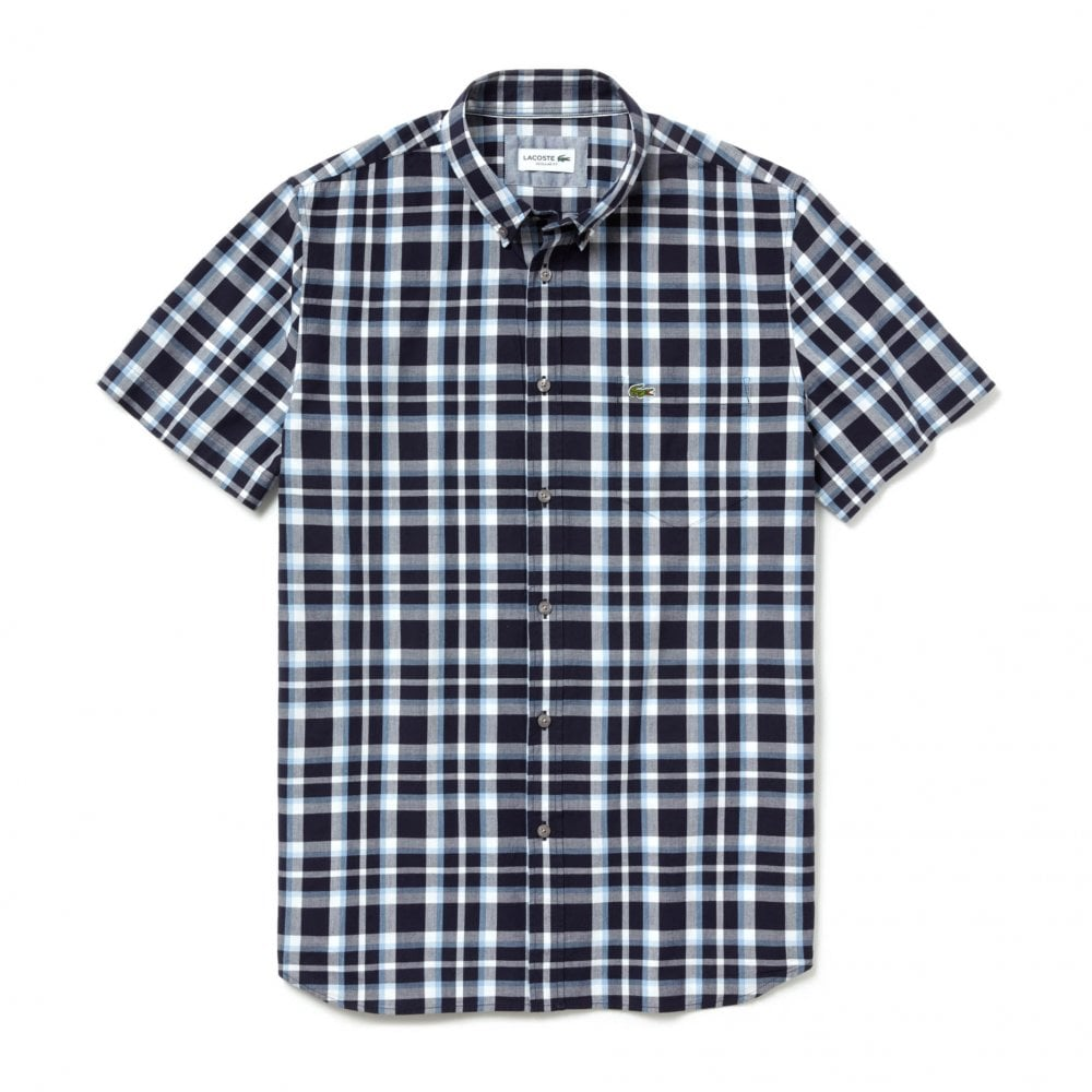 cf3171924 Lacoste Mens Large Check Shirt (Navy) - Mens from Loofes UK