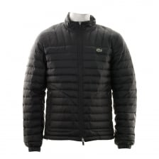 Lacoste Mens Lightweight Quilted Jacket (Black)