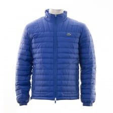 Lacoste Mens Lightweight Quilted Jacket (Blue)