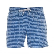 Lacoste Mens Logo Swim Shorts (Blue)