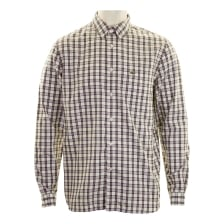 Lacoste Mens Long Sleeve Check Shirt (Cream)